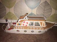 Sylvanian families pleasure boat and Dalmatian family