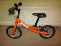 Ridgeback Scoot Balance Bike in very good condition; cost over £100 new.