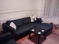 Ikea Karlstad Lounge Suite - (3 Seat Sofa, Armchair, Footstool)