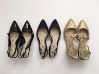 3 PAIRS OF WOMEN'S BODEN SHOES (ALL SIZE 39 / NEVER WORN)