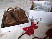 Ladies bronze sandals, size 3.5