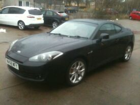 58 PLATE HYUNDAI COUPE 2.0 S3 50000MILES IN BLACK WITH RED LEATHER INTERIOR £3500