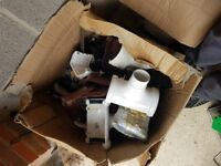 Box of assorted guttering parts