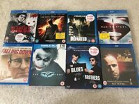 8 x Blue-ray DVDs watched once perfect condition