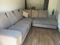 Harvey's L shaped used sofa in excellent condition