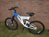 Silverfox Full Suspension Mountain Bike with Disc brakes. REDUCED FOR QUICK SALE.