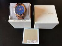 Michael Kors Rosegold - Blue Watch