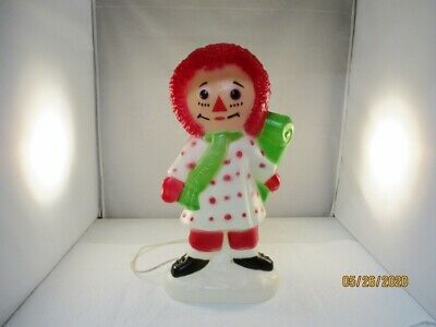 1973 Bobbs-Merrill Raggedy Ann Blow Mold Vintage Christmas Decoration