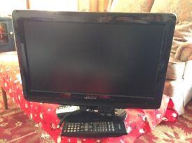 Hitachi 19 Inch TV DVD player