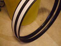 pair 20 inch black steel hoops