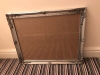 Silver wooden ornate picture frame 48 x 39cm