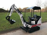 2008 bobcat 319 mini digger, low hours, key pad start, expanding tracks
