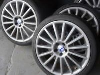 "GENUINE VW GOLF MK5 R32 18"" ALLOYS & TYRES JUST BEEN REFURBD (not copys) loads more vw/audi alloys"