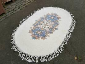 Wool Oval Rug Oriental Style