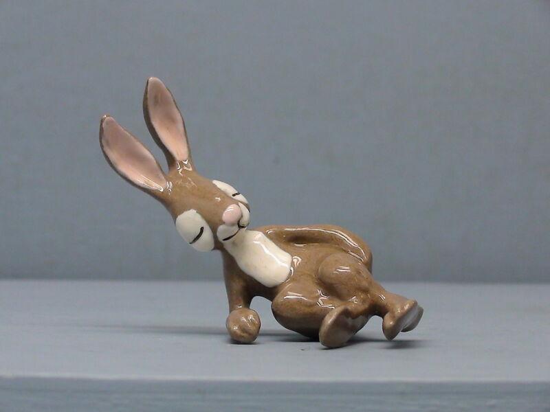 Retired Hagen Renaker Rabbit Leaning