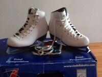 Girl's white figure skates size 12.5