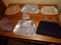 vintage evening bags and 1 powder compact