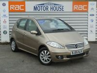 Mercedes A150 ELEGANCE SE ( MUST BE VIEWED) FREE MOT'S AS LONG AS YOU OWN THE CAR!!! (gold) 2005