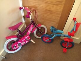 2 children's bike and 1 boys scooter