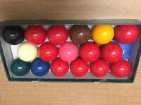 New professional snooker ball set