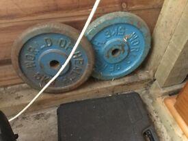 8 x 5KG weights