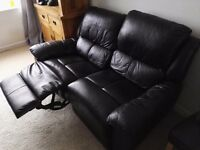 Leather 2 & 3 Seater Reclining Sofa