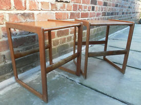 pair of g plan style coffee tables