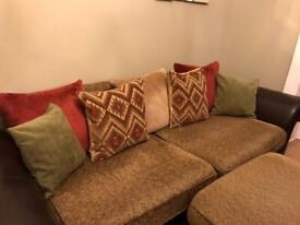 Couch and armchair DFS