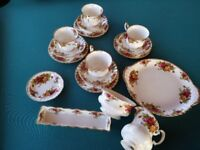 Afternoon tea! Royal Albert Country rose