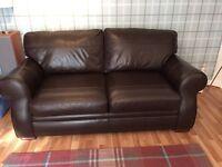 Reid Brown Leather Sofa