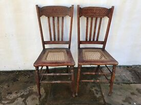x2 vintage chairs