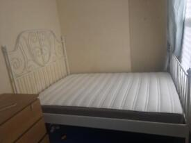 IKEA double metal bed for sale