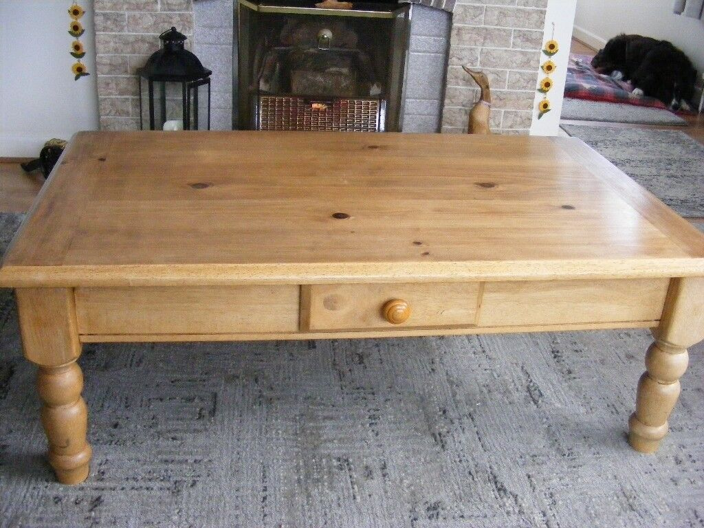 wooden coffee table, with draw, length, 115cm-width, 69cm-height, 42cm