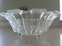 VINTAGE GLASS DESSERT FRUIT SALAD PUNCH BOWL VINTAGE TEA PARTY SERVING BOWL