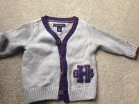 Tommy Hilfiger cardigan and fleece bundle 6-9 months