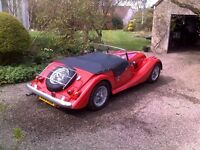 1994 red Morgan 4/4 wire wheels 1776 Ford Zetec EFI SS Exhaust