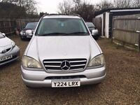 MERCEDES ML320 2001 FULLY LOADED TV DVD SUNROOF EXCELLENT CONDTION