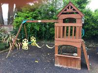 CHILDREN'S WOODEN ADVENTURE PLAY CENTRE