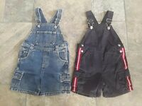 Bundle: 2 pairs of GYMBOREE boy's dungarees / 18-24 months / 1 -2 years