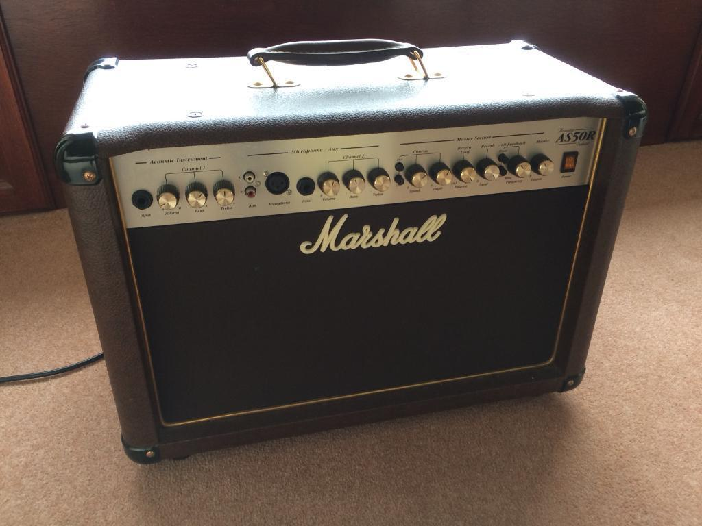 Marshall Acoustic Guitar Amplifier -AS50R for sale-50 Watts -good condition