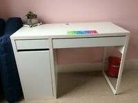 White IKEA desk plus (not in picture) attachable shelves