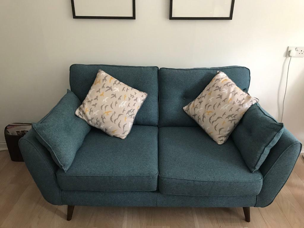 French Connection Zinc 2 Seater Sofa And Arm Chair