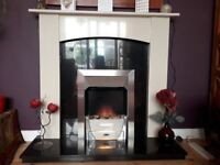 Contemporary electric fire and surround - excellent condition