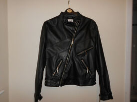 Leather Look Jacket Size 12