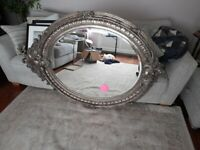 ROCOCO LARGE OVAL MIRROR ORNATE Price reduced