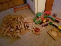 wooden train set train's n axcessories