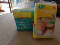 Pampers 5+ and other nappies