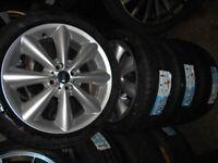 "17"" GENUINE BMW MINI COOPER S ALLOY WHEELS WITH BRAND NEW 205/45/17 TYRES"