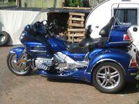 Honda Goldwing GL1800 Trike. A showstopping metallic blue trike with plenty of tastefull extras.