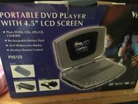 "Portable DVD player with 4.5"" screen"